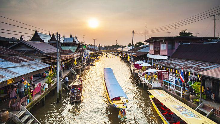 Điểm danh 5 khu chợ nổi hot nhất Thái Lan