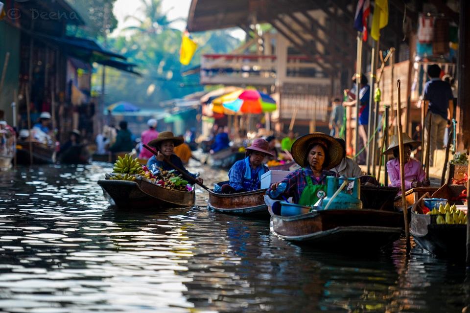 Top 5 khu chợ nổi phải check in khi đi du lịch Thái Lan
