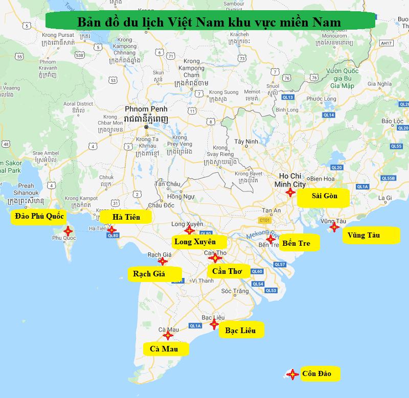 Bản đồ Du Lịch Việt Nam 2020 Kem Thời Gian Du Lịch Tốt Nhất Dn